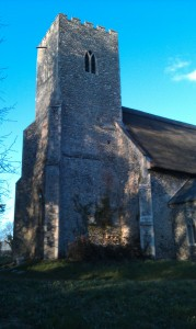 St Margaret's Tower at dusk